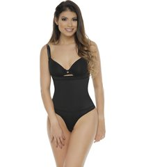 faja body con neolatex tipo tanga bodylinecontrol 1107t negro