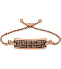 le vian women's chocolatier 14k strawberry gold®, chocolate diamond® & vanilla diamond® bolo bracelet