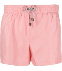 dolce & gabbana zipped pocket swim shorts - pink