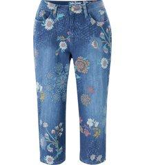 jeans capri elasticizzati fantasia (blu) - john baner jeanswear