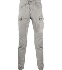 alpha industries mid-rise skinny trousers - grey