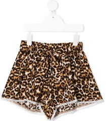 caffe' d'orzo leopard-print shorts - neutrals