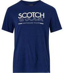 t-shirt scotch & soda crew neck logo tee