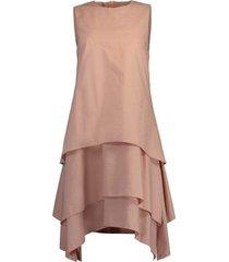 ash rose tiered crewneck mini dress