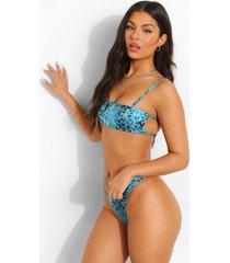tropicana strapless bikini top met bandjes, turquoise