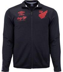 jaqueta do athletico-pr viagem 2020 umbro - masculina - preto