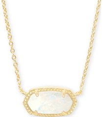 "kendra scott gold-tone stone pendant necklace, 15"" + 2"" extender"