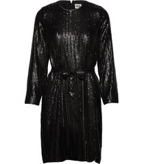 britta sequin dress knälång klänning svart twist & tango