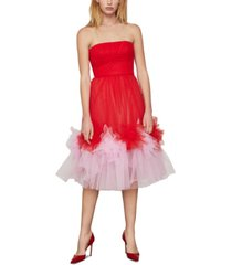 bcbgmaxazria strapless tulle dress