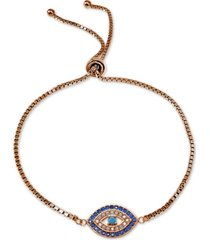 giani bernini cubic zirconia evil-eye bolo bracelet, created for macy's