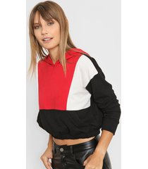 sweater rojo destino collection capucha tricolor