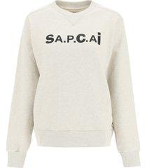 a.p.c. x sacai tani sweatshirt with logo print