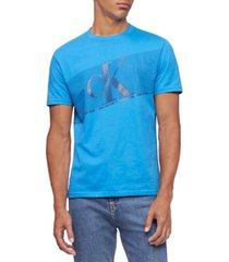 calvin klein jeans men's flash stripe logo graphic t-shirt
