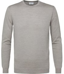 profuomo pullover crew neck beige