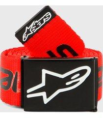 cinturón rojo-negro alpinestars linear web