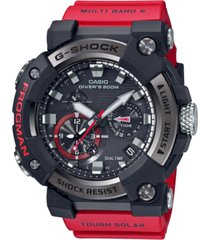 g-shock men's connected solar frogman red resin strap watch 53.3mm