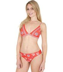 bikini mujer top triángulo rojo h2o wear