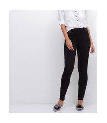 calça legging com elásticos nas laterais da cintura | cortelle | preto | m