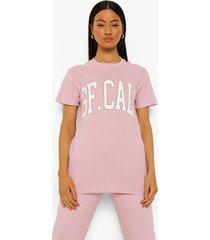 oversized cali t-shirt, lilac