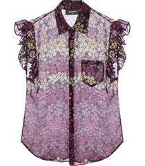 floral-printed top