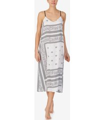 dkny printed sleeveless nightgown