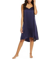 women's papinelle silk slip, size x-small - blue