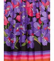 gucci degradé flowers silk twill skirt - pink
