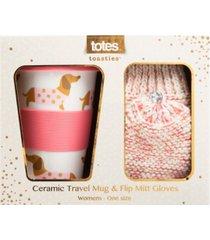 totes women's travel mug and flip mitten boxed gift set