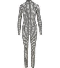 valentino optical v print jumpsuit