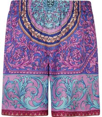 versace classic printed shorts
