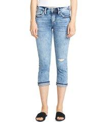 silver jeans co. elyse capri jeans