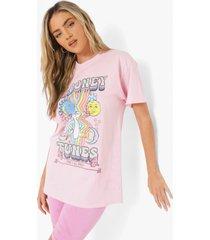gelicenseerd oversized looney tunes t-shirt, light pink