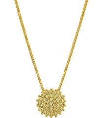 colar dona diva semi joias chuveiro dourado