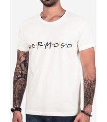 camiseta hermoso compadre f.r.i.e.n.d.s masculina
