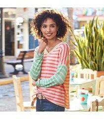 languid stripe pullover