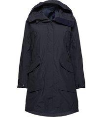 agnes wns coat 3 parka lange jas jas blauw didriksons