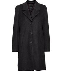 slfsasja wool coat noos b wollen jas lange jas zwart selected femme