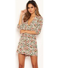 ax paris women's floral long sleeve wrap romper