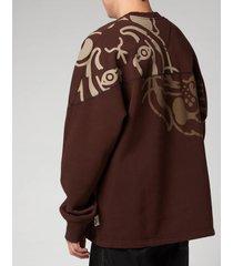 kenzo men's k-tiger seasonal sweatshirt - dark brown - xxl