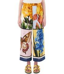 weekend max mara printed silk pants
