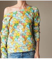 kolorowe kotki bluza raglan