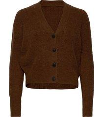 rebelo knit cardigan stickad tröja cardigan brun just female