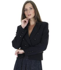 blazer ajustado liso
