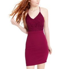 city studios juniors' lace racerback bodycon dress