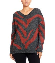 joseph a plaid v-neck pullover sweater