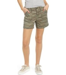 women's caslon utility shorts, size 8 - green