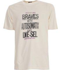 diesel t-shirt jersey viscose w/print