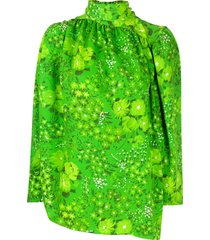 balenciaga twisted blouse - green