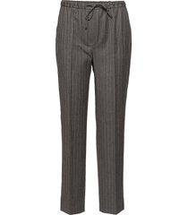 janet wool pin pantalon met rechte pijpen grijs j. lindeberg