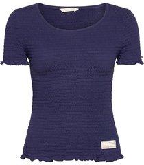 alluring smock t-shirt t-shirts & tops short-sleeved blauw odd molly